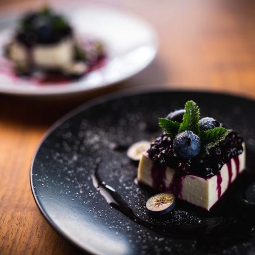 Joghurt-Schnitten mit Blaubeeren