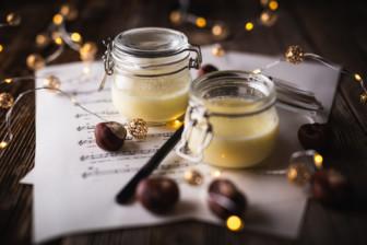 Weißes Schokoladen Panna Cotta